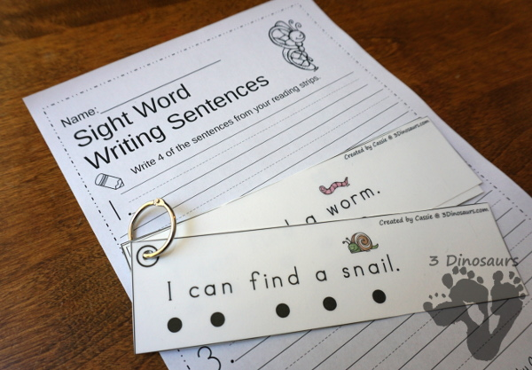 Sight Word Easy Reader Books & Worksheets: Preprimer - 40 easy reader books with matching reading strips and worksheets over 1000 pages of printables $ - 3Dinosaurs.com