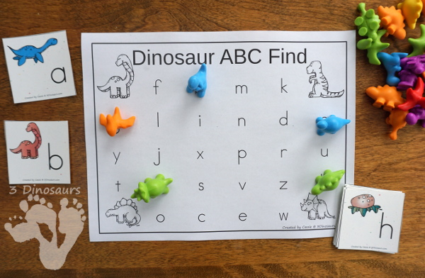 FREE Easy to Use Dinosaur ABC Tracing Center - with uppercase and lowercase options for tracing - 3Dinosaurs.com