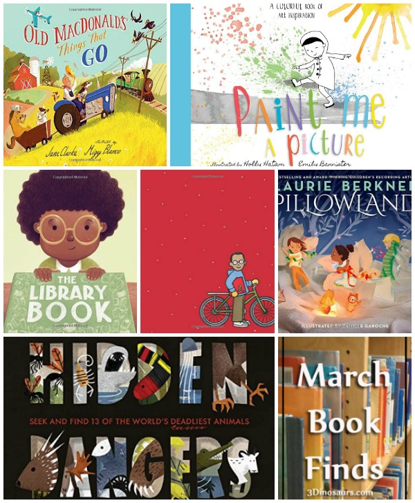 Fun to Read March 2018 Book Finds: animals, book finds, colors, farm, imagination, library, transportation, wordless books - 3Dinosaurs.com