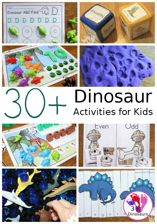 30+ Dinosaur Printables & Activities - a fun collection of dinosaur activities and printables for a mix of ages to do. - 3Dinosaurs.com