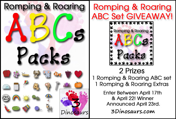 Romping & Roaring ABC Packs Giveaway
