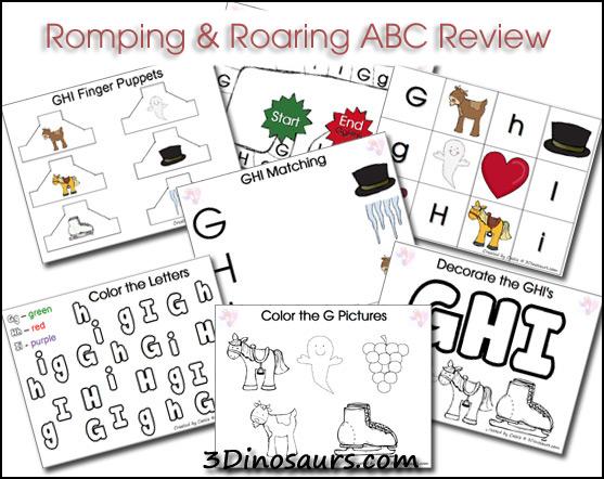 Romping & Roaring ABC Packs