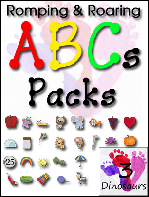 All New Romping & Roaring ABC Packs & Giveaway!