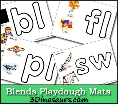 Free Blends Playdough Mats