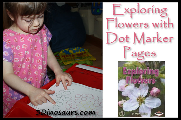 Exploring Flower with Dot Marker Pages