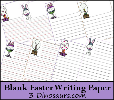 Free Blank Easter Writing Pages