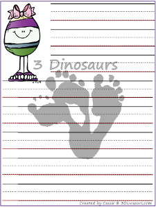 Free Easter Writing Pages - 3Dinosaurs.com