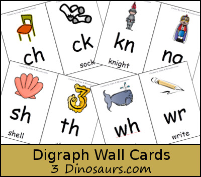 Free Digraph Wall Cards