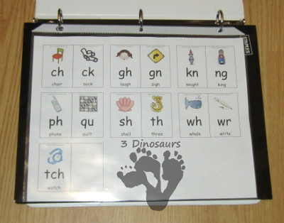 Free Digraph Wall Cards - 3Dinosaurs.com
