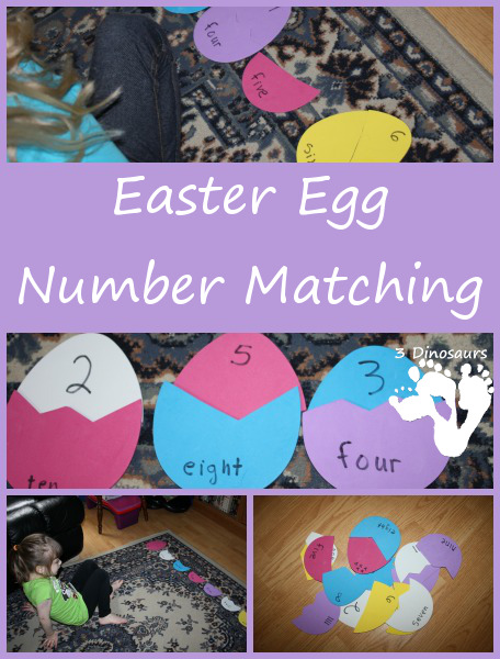 Easter Egg Number Matching - 3Dinosaurs.com
