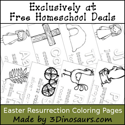 Free Easter Resurrection Coloring Pages - 3Dinosaurs.com