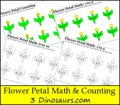 Free Flower Petal Counting & Math Printable