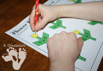 Free Flower Petal Counting & Math Printable - 3Dinosaurs.com