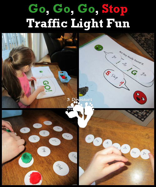 Go, Go, Go, Stop - Traffic Light Fun - 3Dinosaurs.com