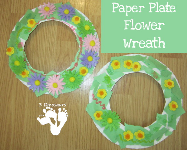Paper plate flower wreaths 3 dinosaurs paper plate flower wreaths 3dinosaurs mightylinksfo
