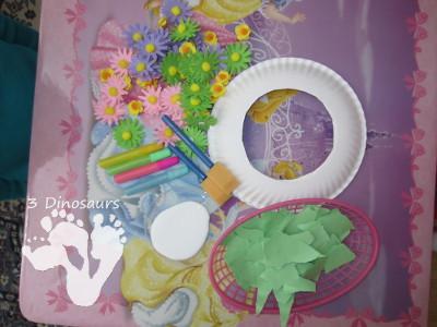 Paper Plate Flower Wreaths - 3Dinosaurs.com