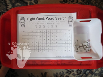Free Romping & Roaring Preprimer Sight Words Packs - 3Dinosaurs.com