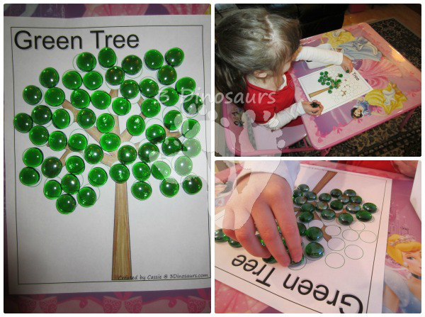 Tree Fine Motor Activities - 3Dinosaurs.com
