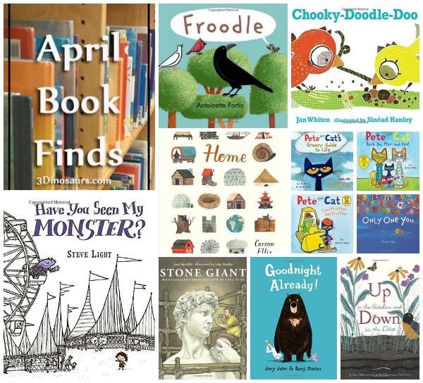 April 2015 Book Finds: Pete the Cat, Birds, counting, shapes, gardens, homes, growing up advice, artists, sleep,  - 3Dinosaurs.com