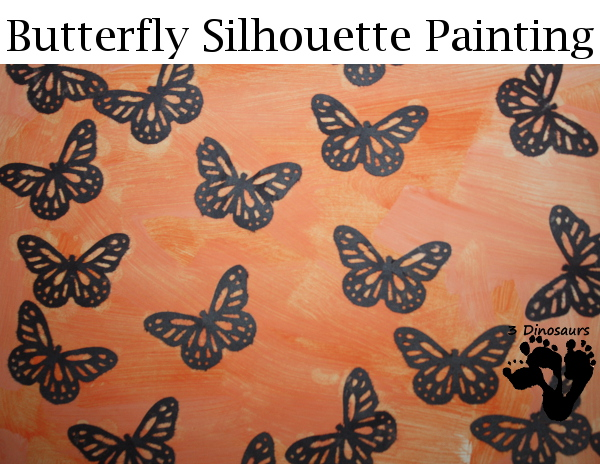 Butterfly Silhouette Painting - 3Dinosaurs.com