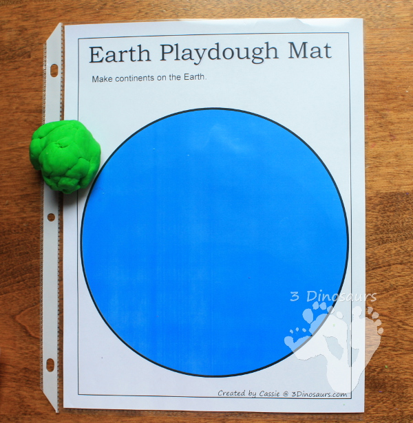 Free Earth Day Playdough Mats - 3Dinosaurs.com