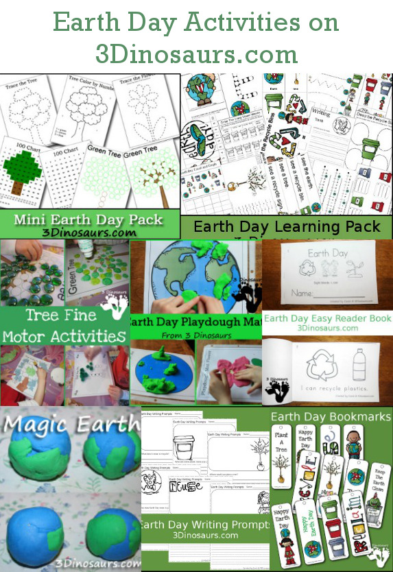 Earth Day Activities & printables on 3 Dinosaurs.com