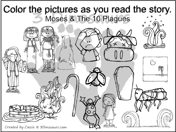 Free Moses & Ten Plagues Pack - over 75 pages of activities that are great for Passover or any time you tell the story. - 3Dinosaurs.com