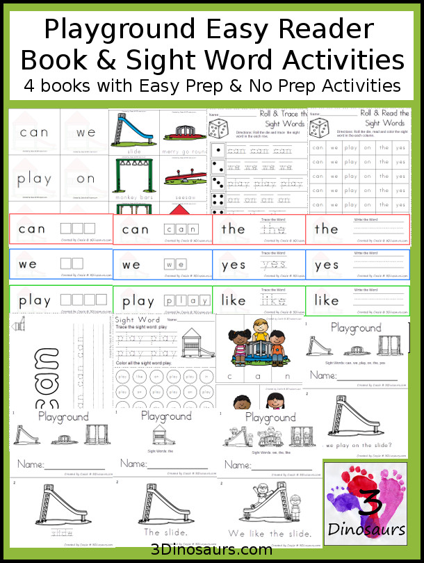 Playground Early Reader Book & Sight Word Set