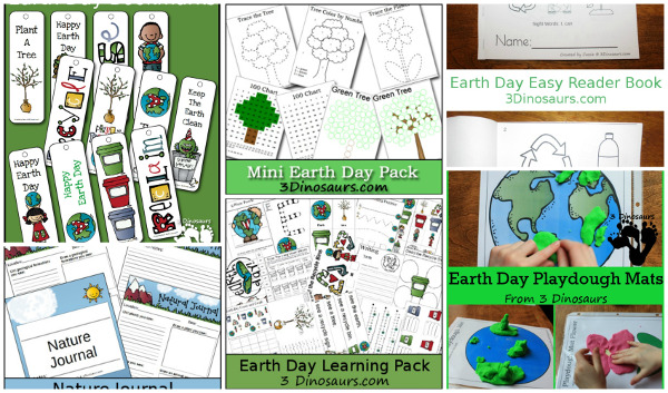 Earth Day Printables & Activities on 3 Dinosaurs - 3Dinosaurs.com