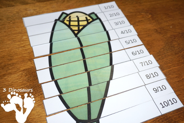 Free  Garden Fraction Puzzles - 7 different fraction puzzles for kids to use -  3Dinosaurs.com