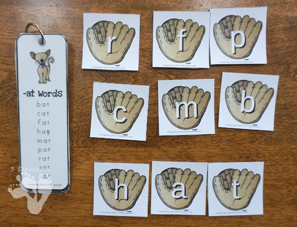 Free Hands-On Baseball ABC Matching Cards - uppercase and lowercase matching cards with a glove and ball theme - 3Dinosaurs.com