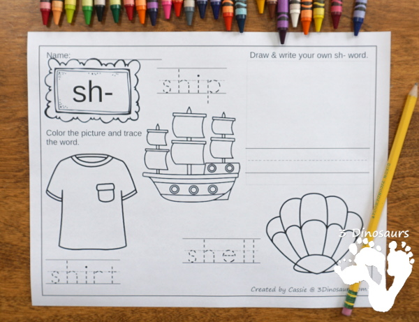 Digraph Coloring Pages have the folowing digraphs: ch-, -ch, -ck, -gh, gh-, kn, -ng, ph-, qu-, sh-, -sh, th-, -th, wh-, wr- $ - 3Dinosaurs.com