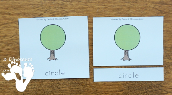 Tree Shape Themed Pack For PreK & Kindergarten - A fun pack full of shape activities with trees. It has a mix of no-prep and hands-on activities for kids for 12 shapes - 3Dinosaurs.com