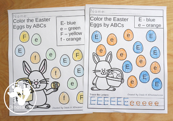 Easter Activities Pack with Prewriting, Shapes, ABCs, and Numbers - 191 pages of activities with no-prep pages, clip cards and tracing strips to help with learning skills with cute Easter Egg - 3Dinosaurs.com