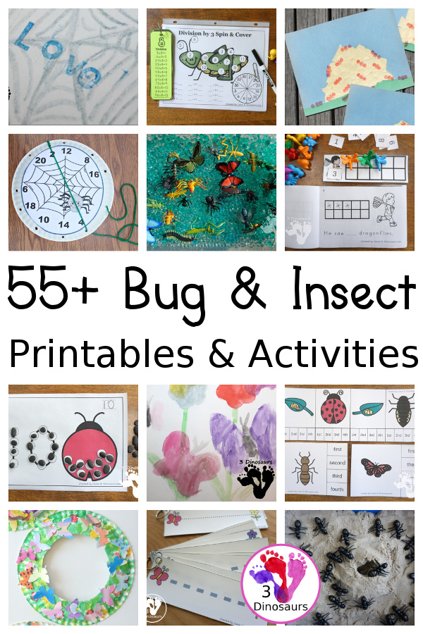 Bug & Insect Activities & Printables on 3Dinosaurs.com
