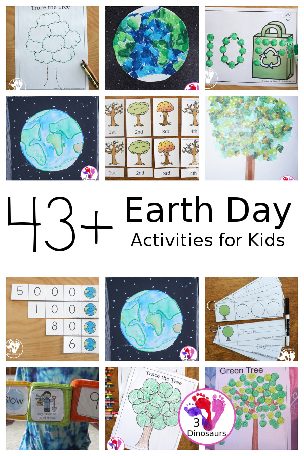 Earth Day Activities & Printables on 3Dinosaurs.com