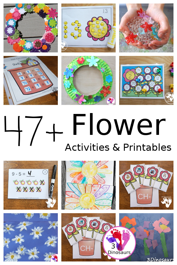 Flower Activities & Printables on 3Dinosaurs.com