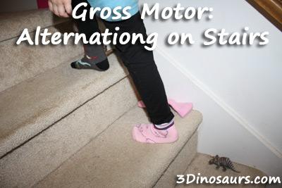 Alternating On Stairs - 3Dinosaurs.com