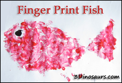 Finger Print Fish - Swimmy