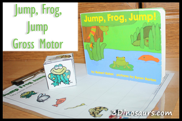 Jump Frog Jump Gross Motor with Printable