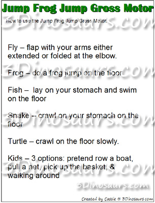 Jump Frog Jump Gross Motor