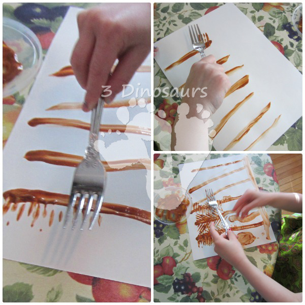 Wheat Stalk Fork Painting - Little Red Hen - 3Dinosaurs.com
