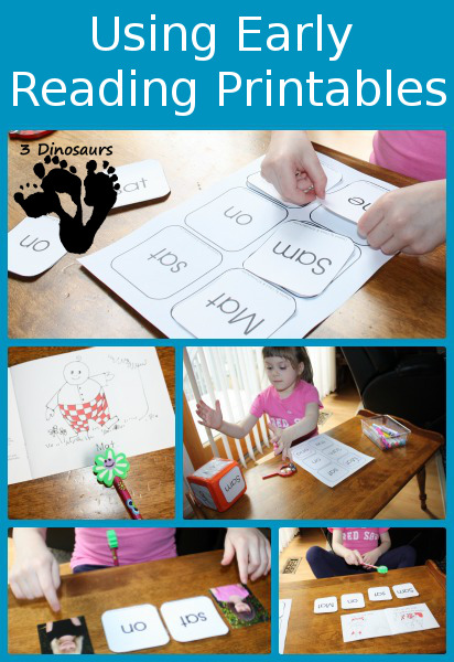 Using Early Reader Printables: Dice Printables