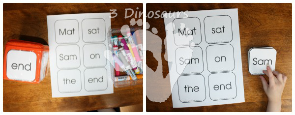 Using Early Reader Printables: BOB Books Set 1 Book 1 - 3Dinosaurs.com