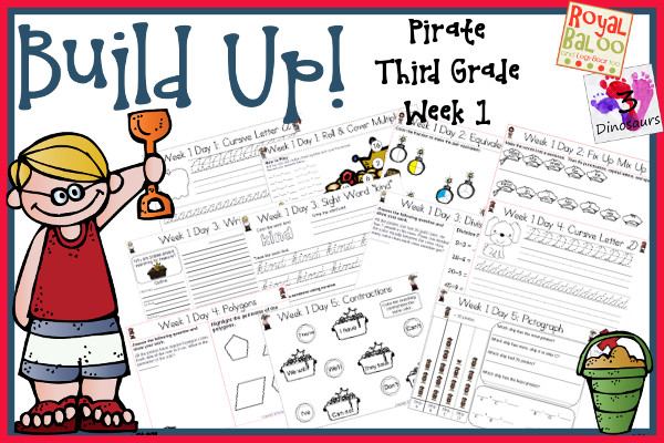 Build Up Summer Learning: Week 1 Pirate – Third Grade Update