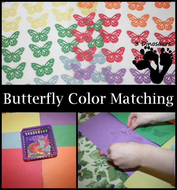 Hands on Learning: Color Matching Butterflies - 3Dinosaurs.com