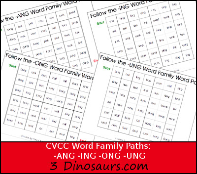 Ing Word Family Worksheets Free - word family sliders school ...