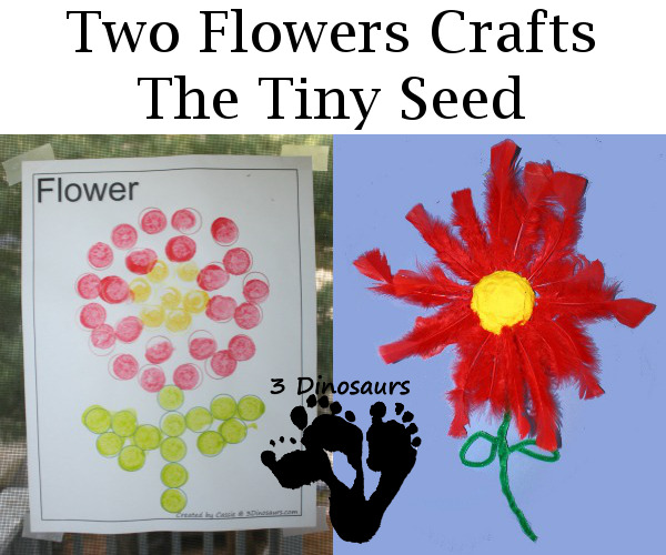 Two Flower Crafts - The Tiny Seed - 3Dinosaurs.com