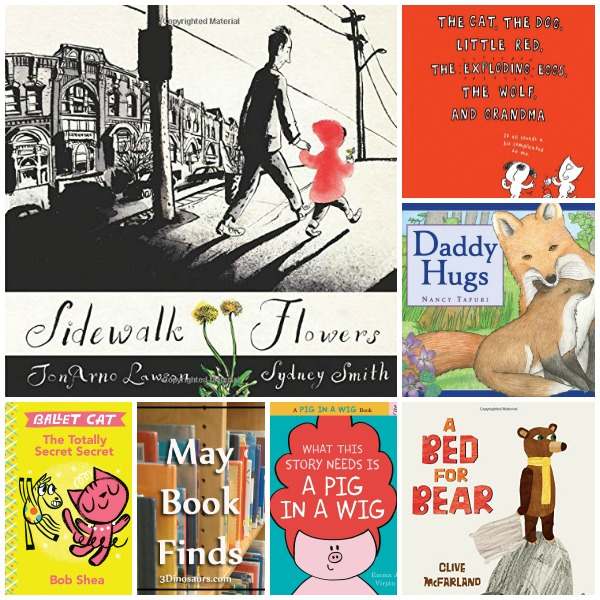 May 2015 Book Finds - Word Bubble Books, Wordless Books, Red Ridding Hood, Animals, dads  - 3Dinosaurs.com