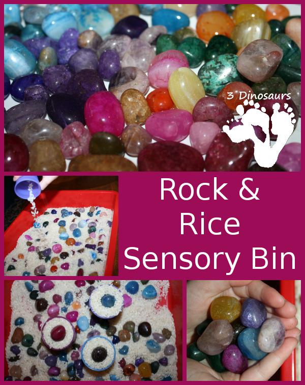 Rock & Rice Sensory Bin - 3Dinosaurs.com
